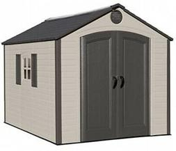 Lifetime 7 ft. 8 in. W x 9 ft. 8 in. D Plastic Storage Shed