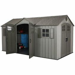 Lifetime Rustic 15 X 8 Dual-Entry Outdoor Storage Shed Garde