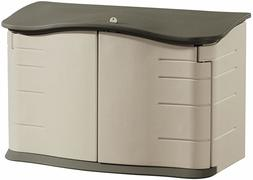 Rubbermaid Small Horizontal Resin Weather Resistant Outdoor