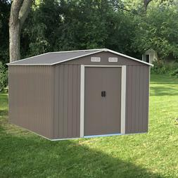 5 Size Steel Outdoor Storage Shed Garden Backyard Toolshed H