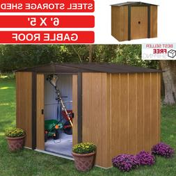 Steel Storage Shed 6' x 5' Gable Roof And 147 Cubic Feet Of