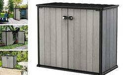 Storage Outdoor Box Deck Shed Keter 4.6 x 2.5 Foot Resin  Pa