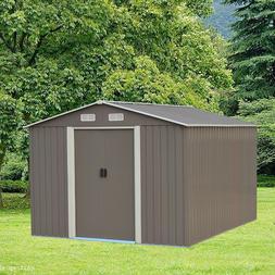 Storage Shed 8'x10' Garden Steel Garage Tool shed Utility La
