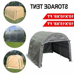 Storage Shed Tent Shelter Car Garage Steel Frame Carport 10'