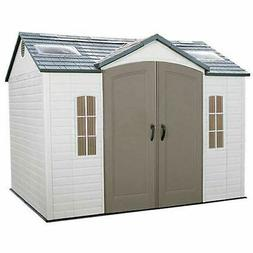 Lifetime 60005 Outdoor Storage Shed with Windows, Skylights
