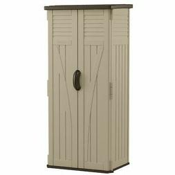 SUNCAST CORP Storage Shed, Vertical, Double-Wall Resin, 22-C