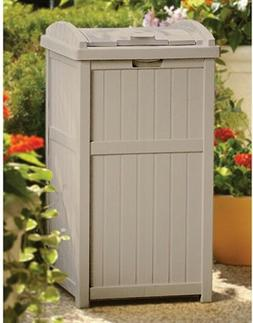 Suncast Trash Hideaway Storage Bin Box