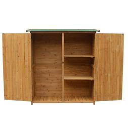 Wood Outdoor Wooden Storage Shed Tool Organize Homer Yard Ga