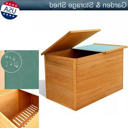Wood Tool Box Outdoor Garden Shed Storage Patio Garage Backy