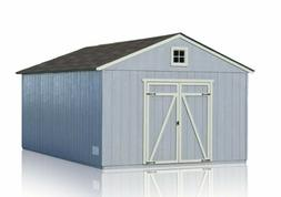 Wooden Single Car Garage Gable Roof Storage Shed with Floor