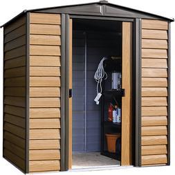 Arrow Storage Products Woodridge Steel Storage Shed, 6 ft. x
