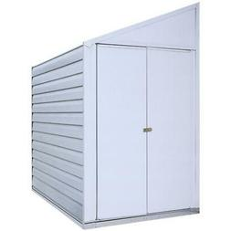 Arrow 4' x 7' Yardsaver Compact Galvanized Steel Storage She